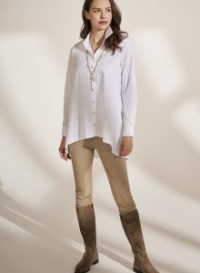 43 Queens | Klassische Hemdbluse mit Rückensattel + klassisches Herrenhemd